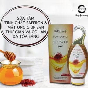 Sữa tắm sáng da từ mật ong và saffron Ấn Độ
